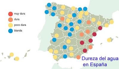 dureza agua provincias españa