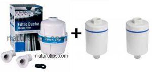 pack filtro mas dos recambios ducha cloro